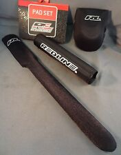 BMX Bike Redline Padset Pad Set 3 piece for Mini Junior for Frame Bar Stem Black