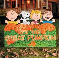 It's the Great Pumpkin Charlie Brown Hammered Metal Outdoor Halloween Decoration