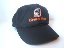 Grout Hog Hat Vintage Black Snapback Rope Baseball Cap