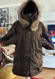 Alpha Industries Jacke, Parka, Polar Jacket grün braun Gr. L unisex