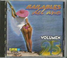 Bailables Del Año Volume 25 Latin Music CD New