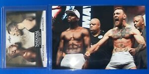 Conor McGregor vs Floyd Mayweather Green Parallel Boxing Card & Weigh In Photo