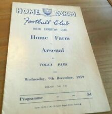 More details for home farm ireland v arsenal youth exhibition football programme 9/12/1959.