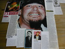 PAUL DI'ANNO (IRON MAIDEN) - MAGAZINE CUTTINGS COLLECTION (REF Z)