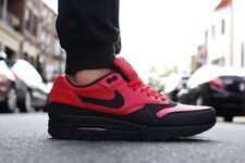 Nike Air Max 1 LTR Leather Premium Gym Red Black 705282-600 Size 9.5US