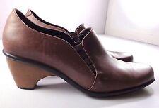 Dansko Brown Leather Pumps Heels Women's Size 40 9.5 - 10 Slip On Shoes Portugal