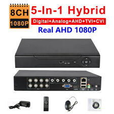 Security AHD 1080P 8CH 5-in-1 Hybrid DVR NVR TVI CVI IP ONVIF 3G WIFI P2P XMeye