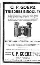 PARIS BERLIN-FRIEDENAU JUMELLES GOERZ PUBLICITE 1904