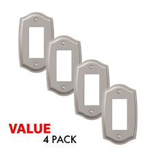 Value 4-Pack Rocker Toggle Switch Gfci Outlet Wall Plate, Brushed Nickel