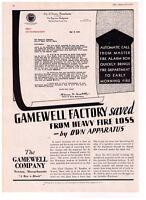 1935 Gamewell Co. Gamewell Factor Newton, Mass. Alarm Box Print Advertisement