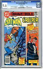 Brave and the Bold  #143  CGC  9.6  NM+  White pgs  9-10/78  Creeper, Human Targ
