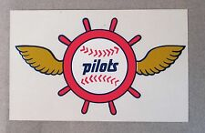 scarce 1969 SEATTLE PILOTS winged logo STICKER transparent background MINT