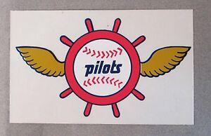 scarce 1969 SEATTLE PILOTS winged logo STICKER transparent background MINT