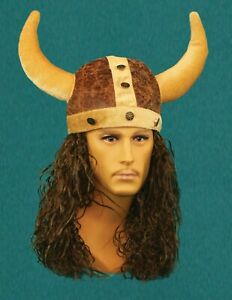 Viking Hat with Horns Halloween Costume Cosplay Hat