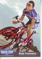 CYCLISME carte cycliste REDA FRANCESCO équipe QUICK STEP 2011 signée