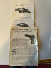 Smith & Wesson model 37,model 36, Colt Combat Commander parts list, instructions