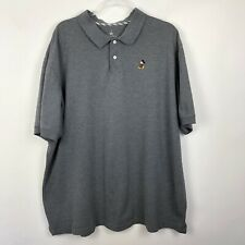 Disney Mickey Mouse Polo Shirt XXL Gray Mens Embroidered WDW Short Sleeve Cotton