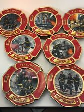 Bradford Exchange 2002 Fire Dept Commitment To Courage Plates
