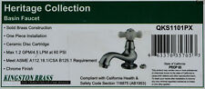 Kingston Brass-Heritage Collection-Basin Faucet-Solid Brass-Chrome finish