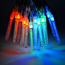 Battery Powered LED Light String Colorful Bubble Stick Christmas Tree Decoration