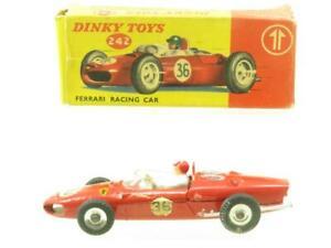 Dinky Toys 242 Ferrari Course Voiture Rouge #36 Original Emballé