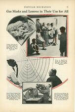 1933 Gas Mask Lessons Tests Auer Gas Light Works Berlin Germany German
