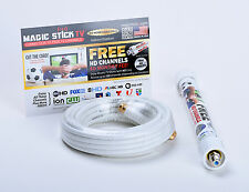 Magic Stick Indoor/Outdoor Antenna FREE Air HD TV CHANNELS UP TO 80 Miles Range