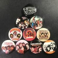 "Creedence Clearwater Revival 1"" Button Pin Set John Fogerty Rock Folk Classic"