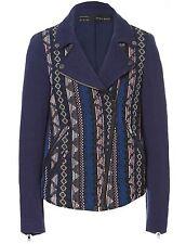 Combinaison Zara motif Navajo jacquard veste de motard M 10 12 38 40!