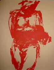 Claude Garache Lithographie originale sur papier teinté abstraction art abstrait