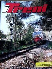 I Treni 126 1992 Poster Locomotiva E 636 - La Ferrovia Ligure - Comando scambi