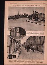 WWI Poilus Statue La Fontaine Château-Thierry Chemin des Dames 1918 ILLUSTRATION