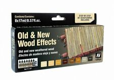 Old and New Weathered Wood: 8 Airbrush Paints (Vallejo 71187)