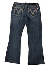 Women's Seven7 Boot Stretch Distressed Holes Low-Rise Jeans - Size 8P (30 x 24)