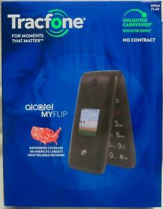 Tracfone Alcatel My Flip MyFlip A405 Prepaid Cell Phone New Sealed In Box