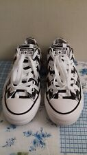Women's Converse All Star Black/White Low Tops Trainers Size UK 5 EU 37.5 VGC