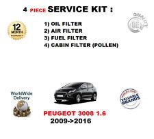pour Peugeot 3008 1.6 HDI DV6TED4 2009- >2016 FILTRES KIT DE SERVICE 4 pièces
