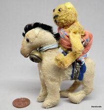 Antique Soldier Bear Mascot Teddy WWI Mohair Farnell Steevans Horse Tin Trunk Oz