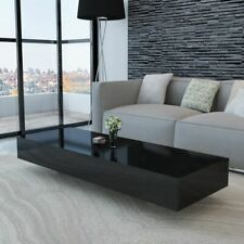 vidaXL Coffee Table MDF High Gloss Accent Tea Living Room Black/White 2 Sizes