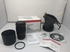 Canon Macro Lens EF 100mm 1:2.8 f2.8 L IS USM Used Once 10/10 Original Box