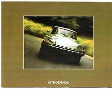 Citroen DS Saloon 1973-75 UK Market Foldout Brochure Special Super 5 23 Pallas