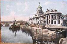 Irish Postcard CUSTOM HOUSE Dublin Ireland River Liffey Lawrence Germany udb
