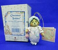 Cherished Teddies - BABY GIRL'S FIRST CHRISTMAS Hanging Ornament #913006