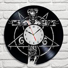 666 Diablo Pentagrama Diseño Reloj De Discos De Vinilo Hogar Decoración Arte Hobby película Shop