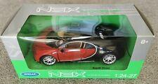 Fahrzeugmodell Welly 24077 Bugatti Chiron schwarz/rot 1:24