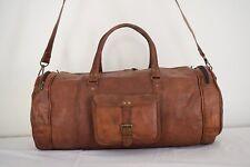 Handmade Real Leather HoldAll Duffle Bag Sports Weekend Travel Luggage Handbag