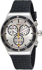 Swatch Irony Jump High Silver Dial Chrono Swiss Quartz Watch YVS420