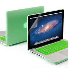 Aqua Green Rubberized Case Screen Protector Keyboard Cover for Macbook Pro 13""