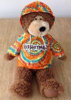 """HERSHEY PARK SOUVENIR BROWN BEAR 22"""" Large Plush Tie Dye Stuffed ANIMAL TOY"""