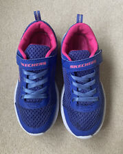 Kids Blue And Pink Skechers Trainers UK 1.5 EUR 34